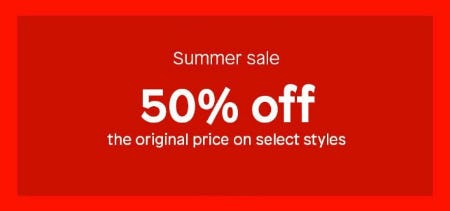 50% Off Summer Sale from ALDO
