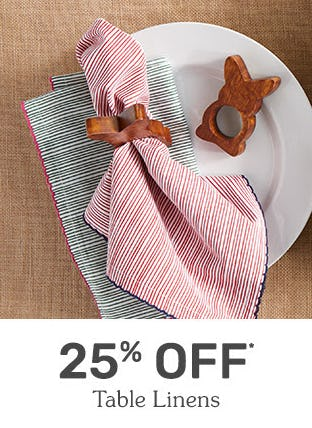 25% Off Table Linens from Pier 1 Imports