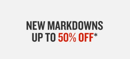 Up to 50% Off New Markdowns