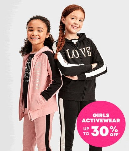 Girls Activewear up to 30% Off from The Children's Place