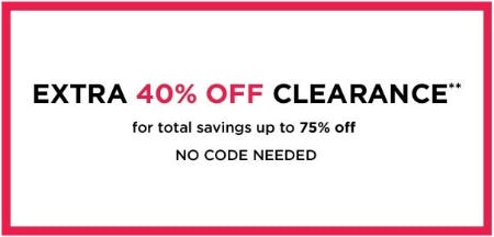 Extra 40% Off Clearance from Lord & Taylor