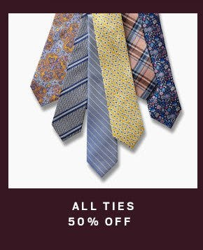All Ties 50% Off from Men's Wearhouse
