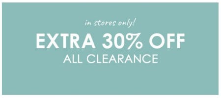 Extra 30% Off All Clearance from Pottery Barn Kids