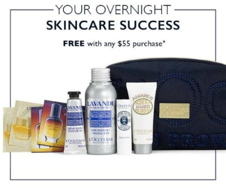 Your Overnight Skincare Success Free With Any $55 Purchase from L'Occitane