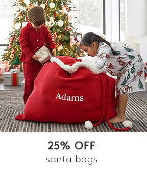 25% Off on Santa Bags from Pottery Barn Kids