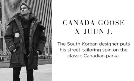 Canada Goose X Juun J from Saks Fifth Avenue