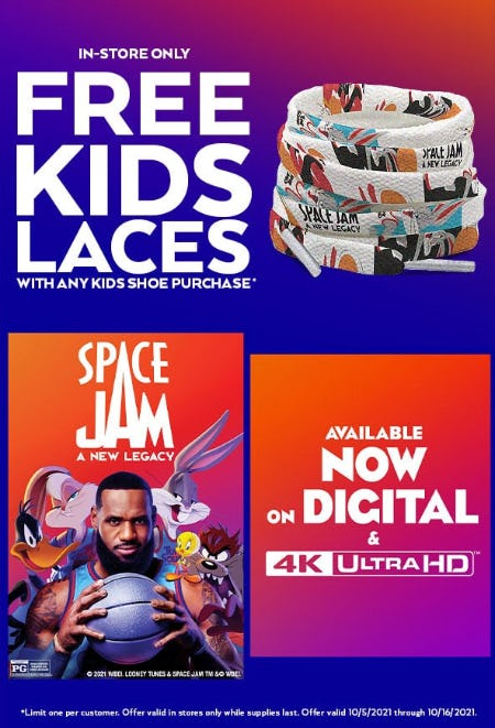 Free Kids Laces with Any Kids Shoe Purchase