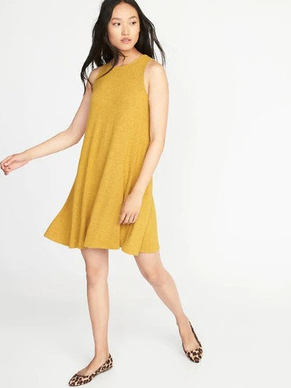 Plush-Knit Sleeveless Swing Dress for Women from Old Navy
