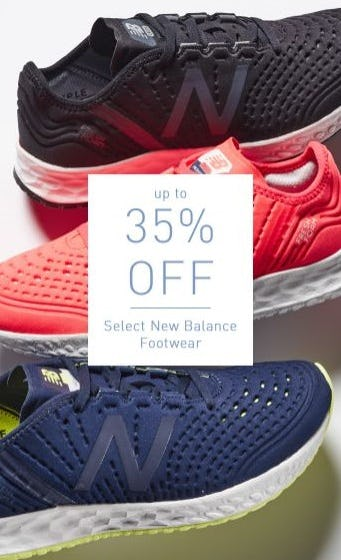 Up to 35% Off Select New Balance Footwear