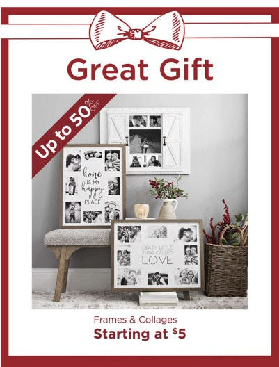 Up to 50% Off Frames & Collages