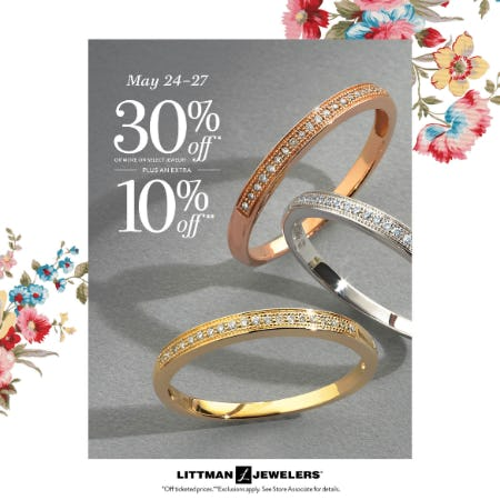 Memorial 4 Day Sale from Littman Jewelers