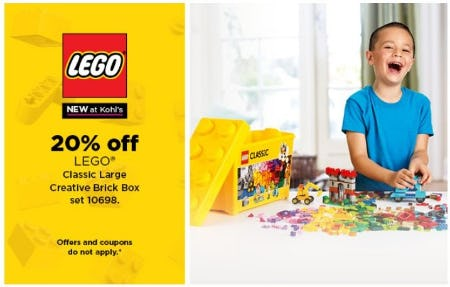 20% Off LEGO Classic Large Creative Brick Box Set 10698 from Kohl's