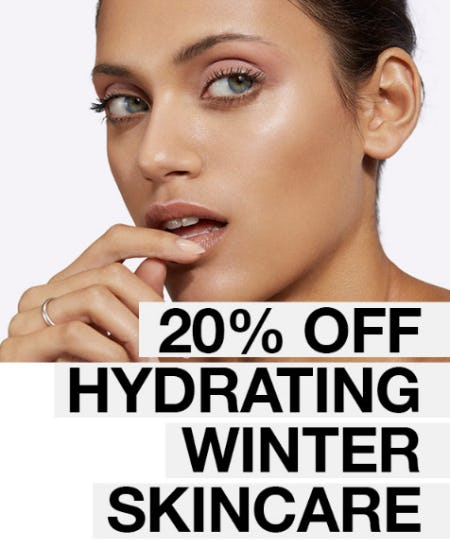 20% Off Hydrating Winter Skincare