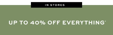 Up to 40% Off Everything from Pottery Barn