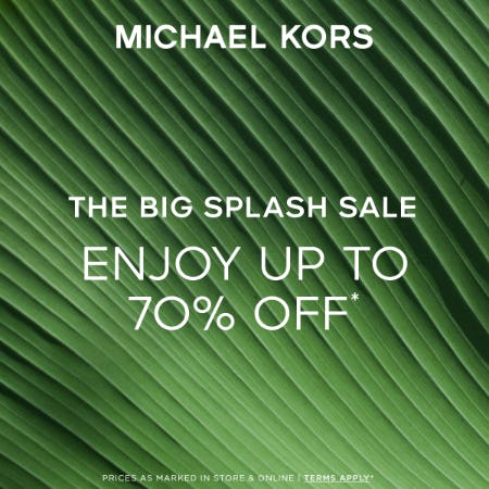 THE BIG SPLASH SALE from Michael Kors