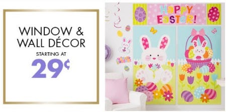 Window & Wall Décor Starting at 29¢ from Party City