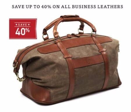 Up to 40% Off All Business Leather