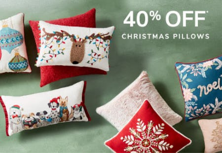 40% Off Christmas Pillows from Pier 1 Imports