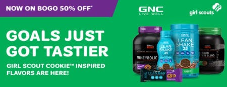 Girl Scout Cookie Inspired Flavors Now on BOGO 50% Off from GNC