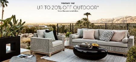 Up to 20% Off Outdoor from Z Gallerie