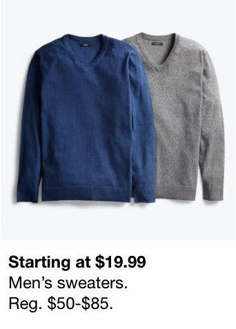 Men's Sweaters Starting at $19.99