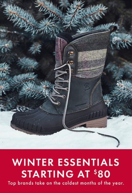 Winter Essentials Starting at $80 from DSW Shoes