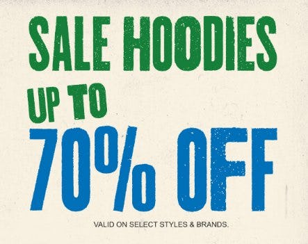 Sale Hoodies: Up to 70% Off