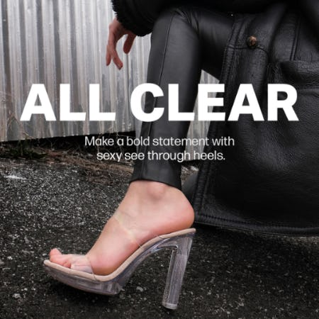 Crystal Clear Heels from Steve Madden