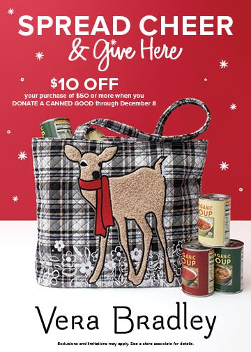 Spread Cheer & Give Here from Vera Bradley