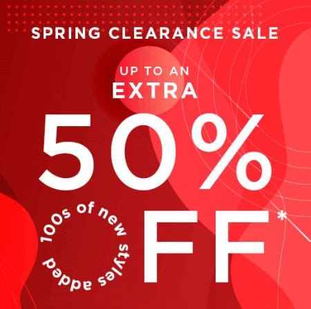 Up to an Extra 50% Off Spring Clearance Sale from Tillys