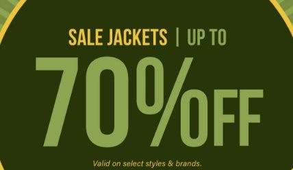 Sale Jackets up to 70% Off