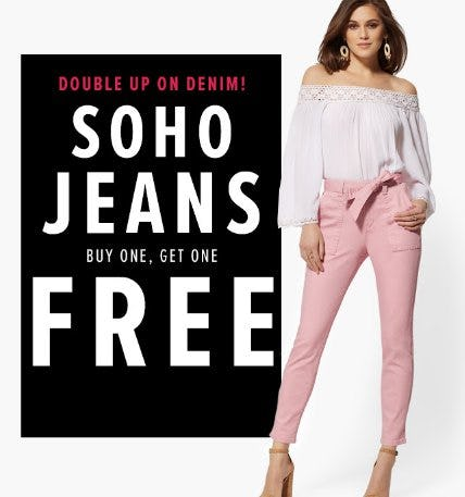 Soho Jeans Buy One, Get One Free from New York & Company