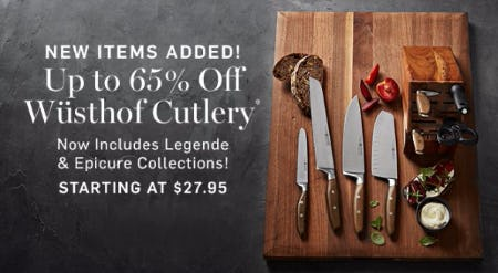 Up to 65% Off Wüsthof Cutlery