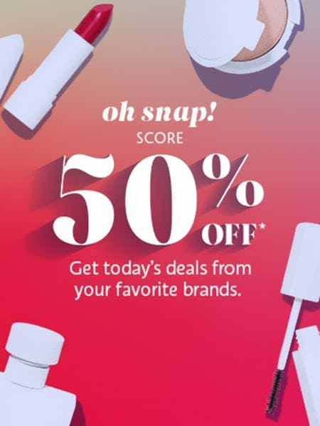 50% Off Your Favorite Brands