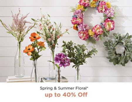 Spring & Summer Floral up to 40% Off