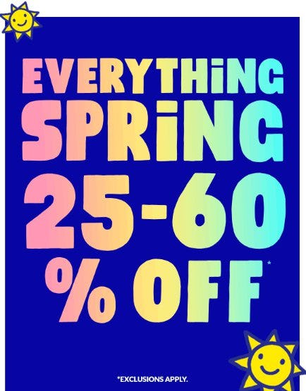 Everything Spring 25-60% Off from The Children's Place