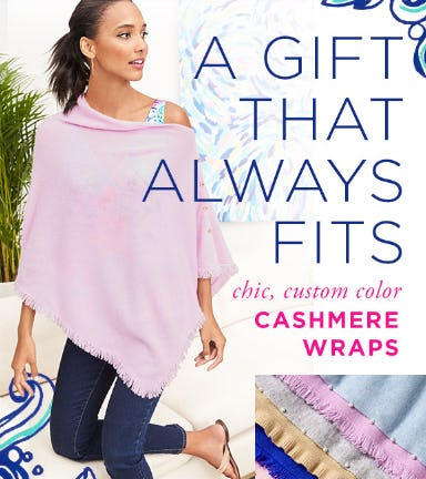 Chic, Custom Color Cashmere Wraps from Lilly Pulitzer