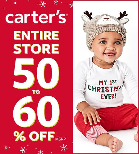 Black Friday Entire Store 50-60% Off* from Carter's