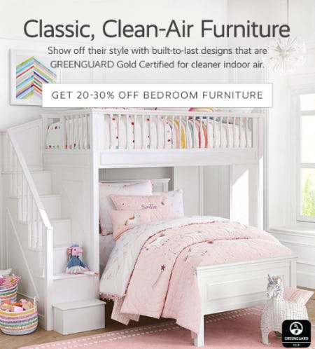 Get 20-30% Off Bedroom Furniture from Pottery Barn Kids