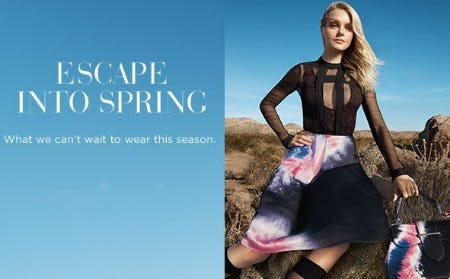 Escape Into Spring from Saks Fifth Avenue