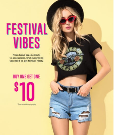 BOGO $10 Select Styles from Mandee