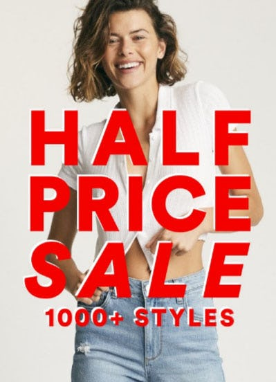 Half Price Sale from Cotton On