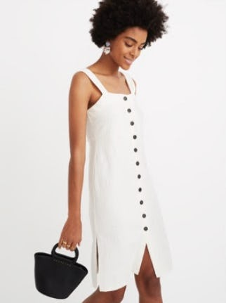 Button Front Tank Dress