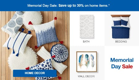 Up to 30% Off Memorial Day Sale