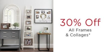 30% Off All Frames & Collages from Kirkland's
