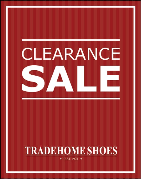 Summer Clearance Event from Tradehome Shoes