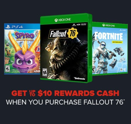 Get Up to $10 Rewards Cash from GameStop