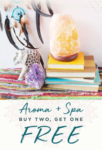 B2G1 Free Aroma & Spa from Earthbound Trading Company