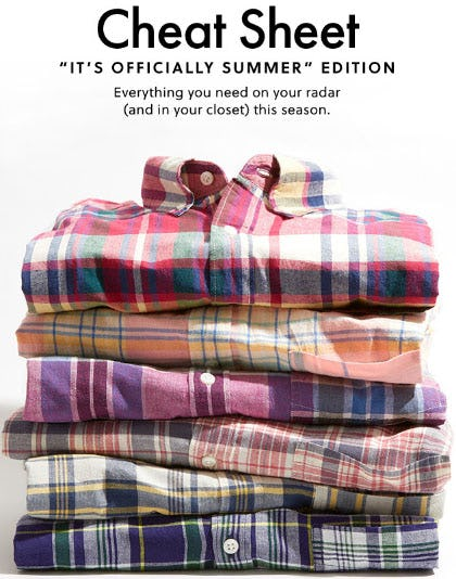 New Indian Madras Shirts from J.Crew-on-the-island
