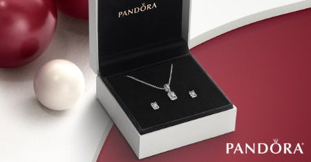 Luminous Ice Necklace Gift Set Complete with Matching Earrings from PANDORA